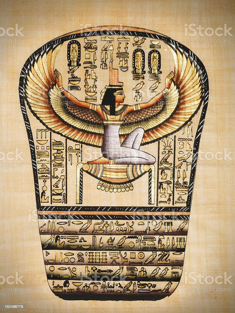 Isis, Ancient Egyptian goddess stock photo