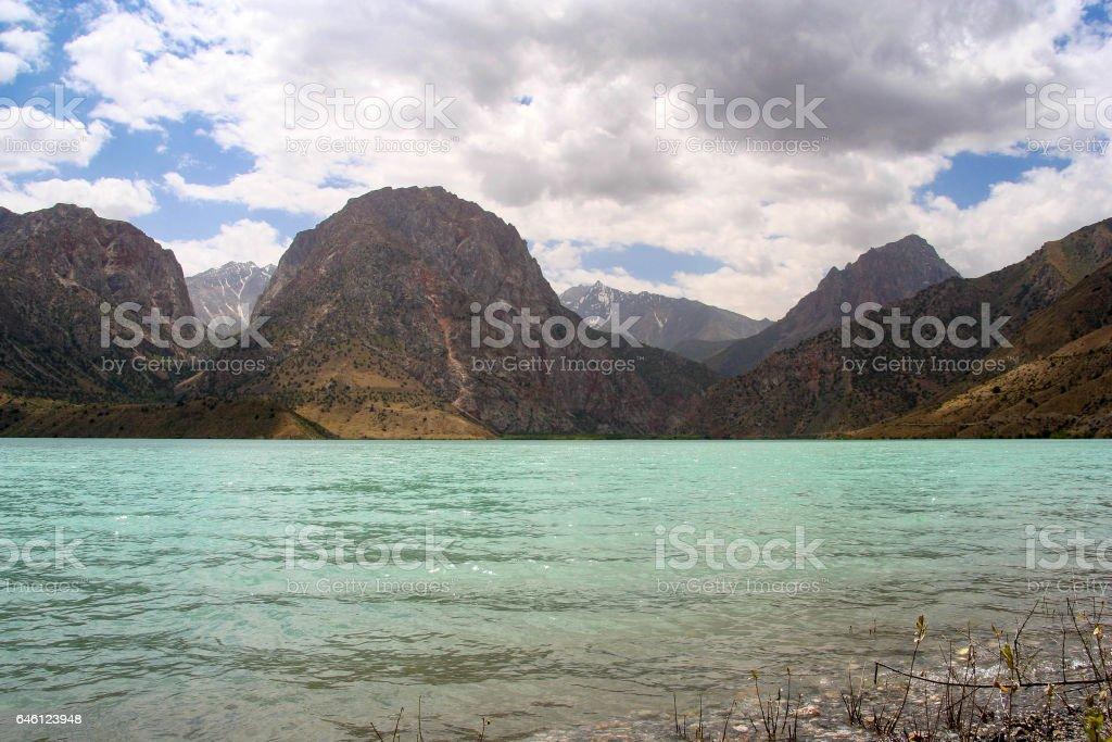 Iskanderkul lake, Tajikistan stock photo