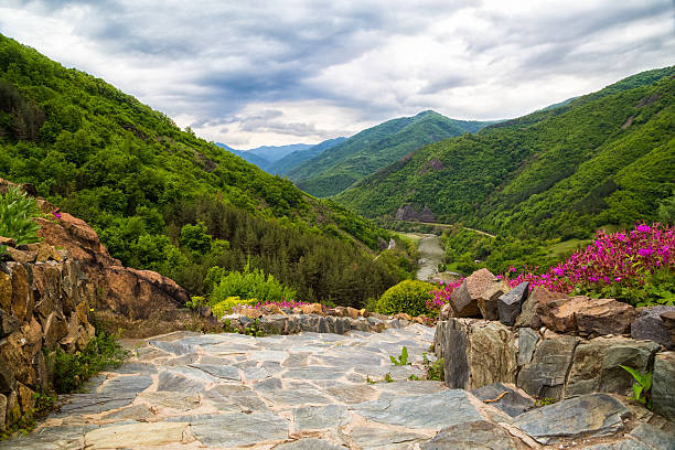 Iskar Gorge, Bulgaria stock photo