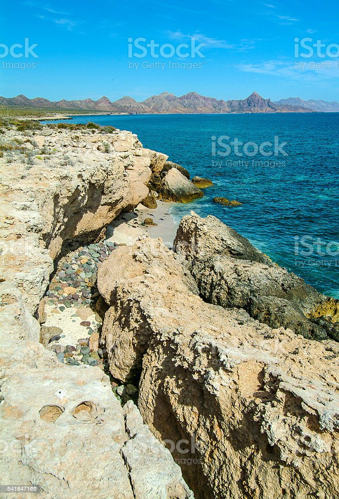 Isla Carme coast stock photo