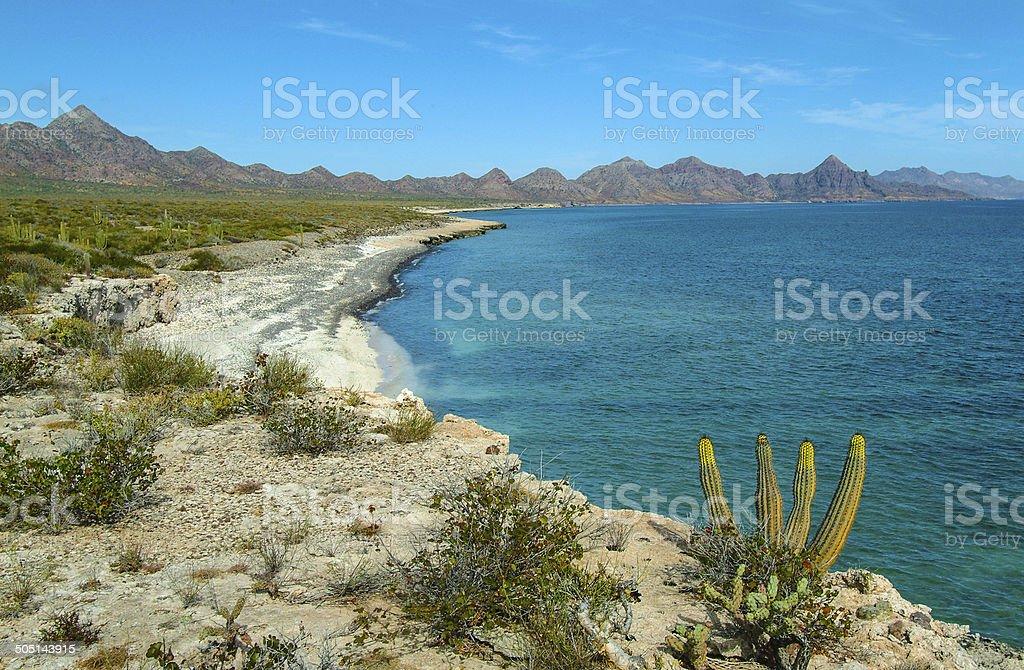 Isla Carmen Beaches stock photo