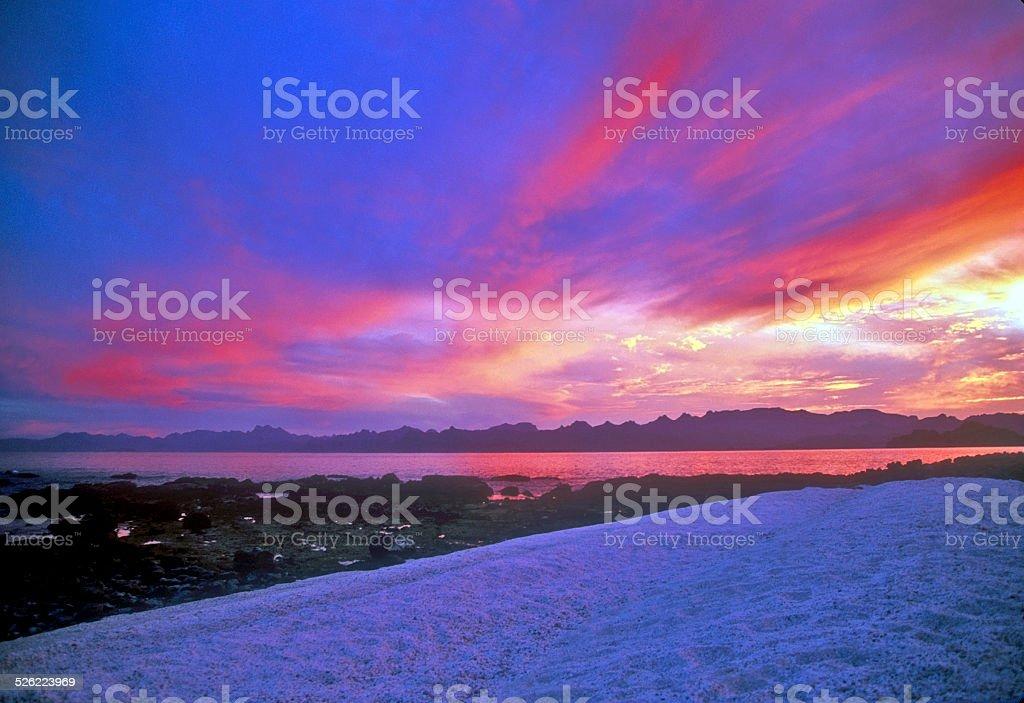 Isla Carmen Color stock photo