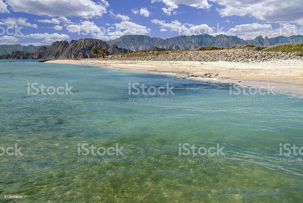 Isla Carmen Morning stock photo