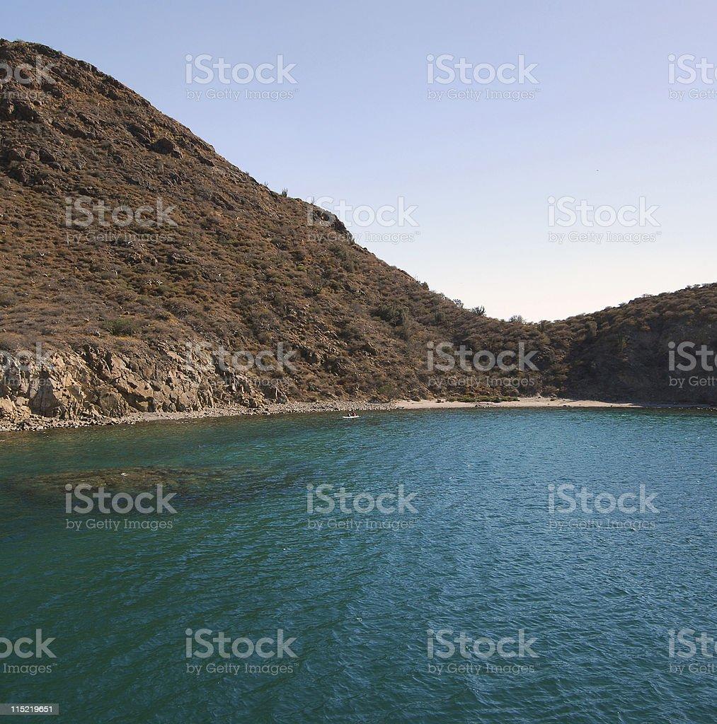 Isla Del Carmen, Ballandra Bay royalty-free stock photo