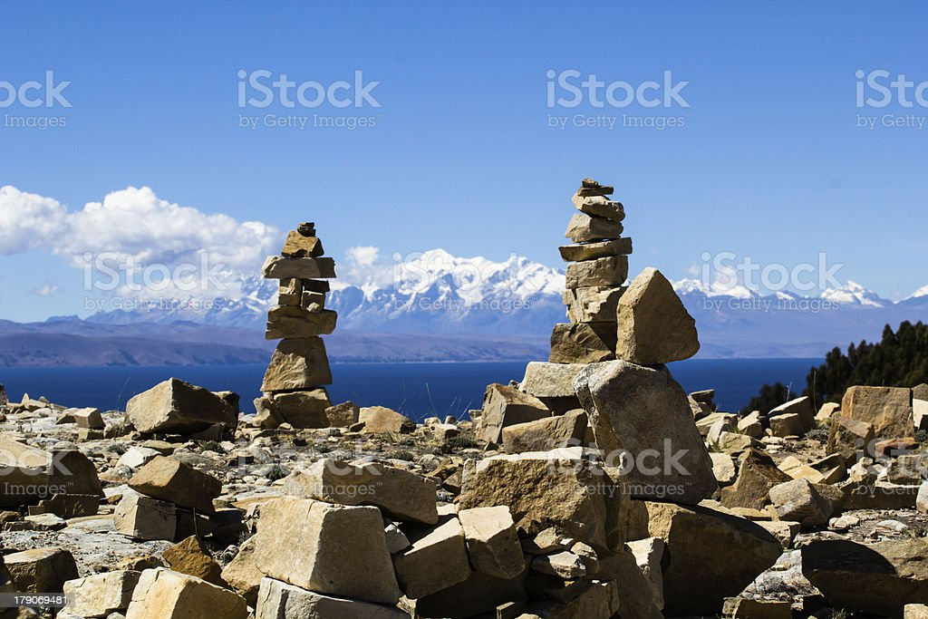 Isla del Sol on the Titicaca lake, Bolivia. royalty-free stock photo