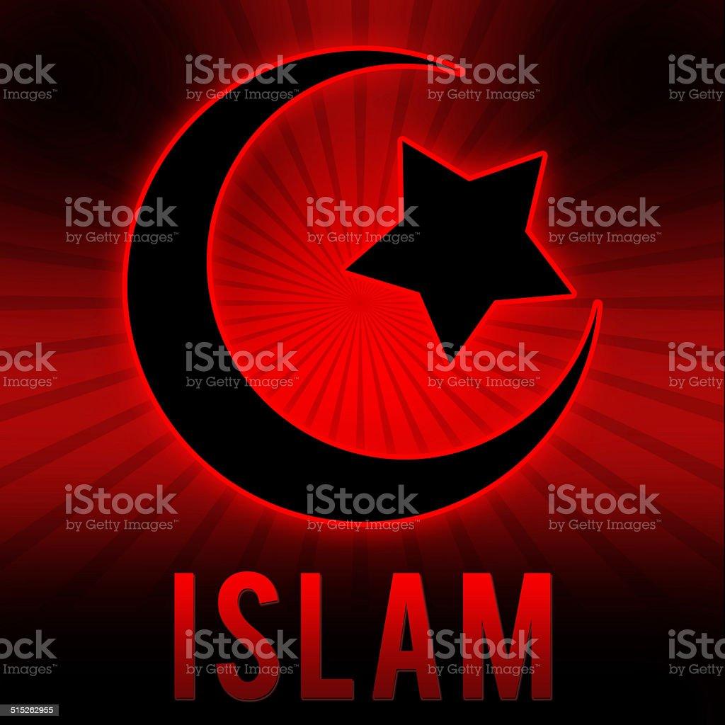 Islam Simbolo In Rosso E Nero Sfondo Di Rottura Fotografie Stock E