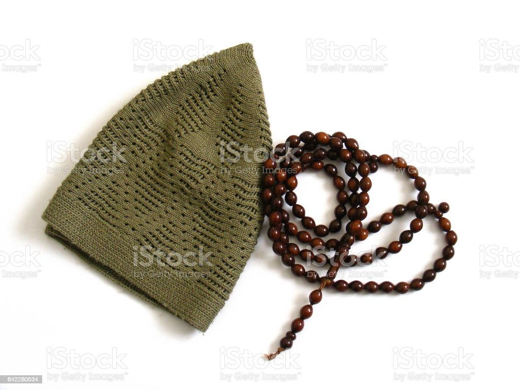 islami takke,rosary,misvak pictures stock photo