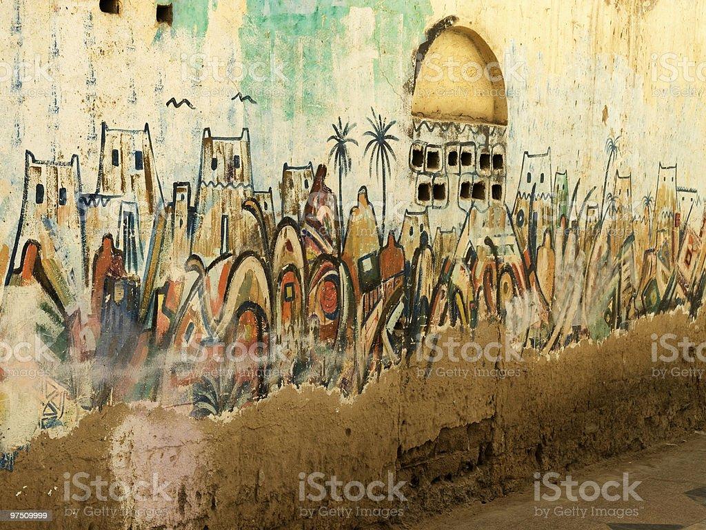 Islamic and Arabian graffiti royalty-free stock photo