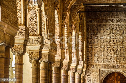 istock Islamic architecture in Granada, Spain 494737244