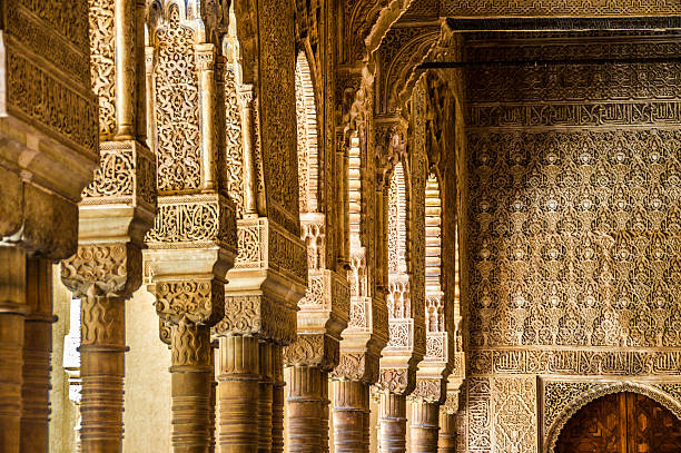 Islamic architecture in Granada, Spain Islamic architecture in Granada, Spain palacios nazaries stock pictures, royalty-free photos & images