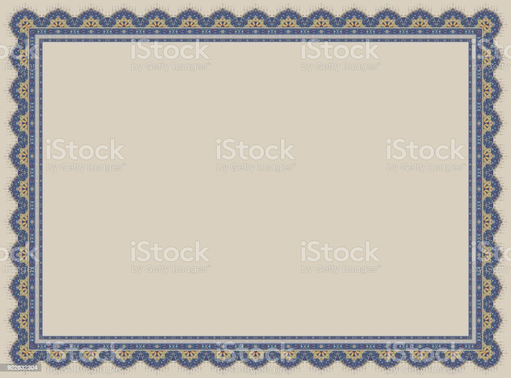 islamic certificate stock photo