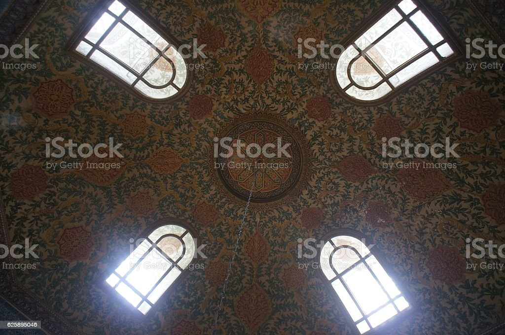 Islamic Decoration of the Blue Mosque Istanbul stock photo