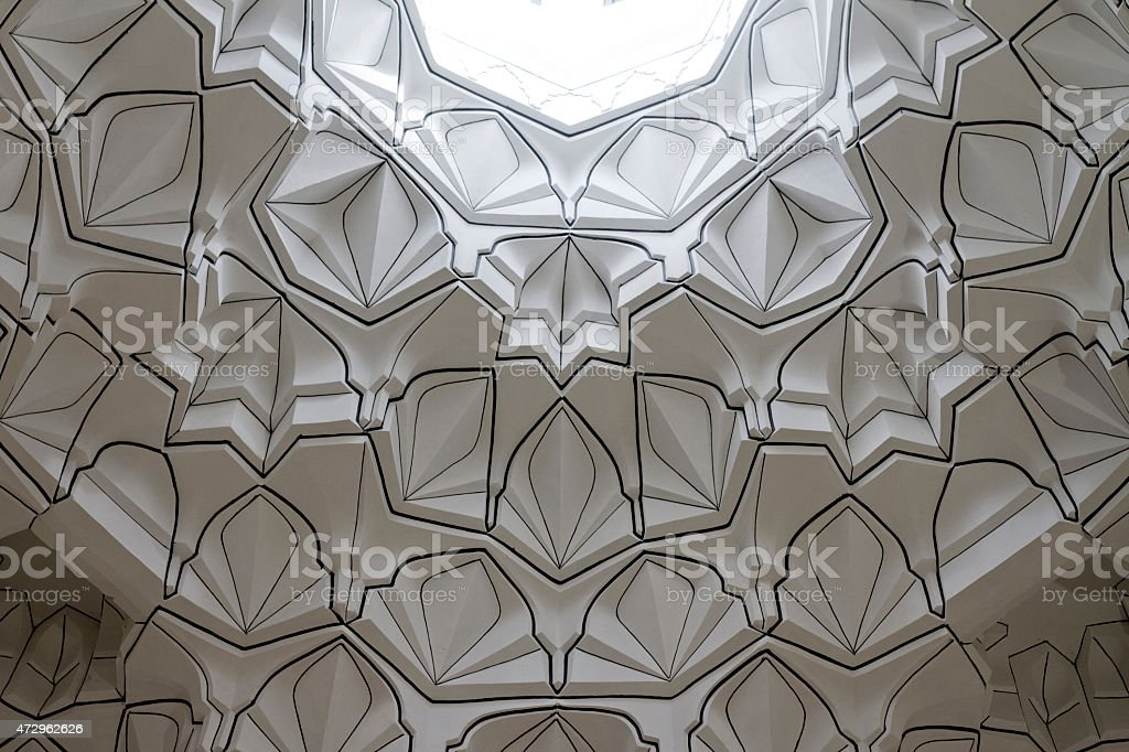 Islamic dome motive stock photo
