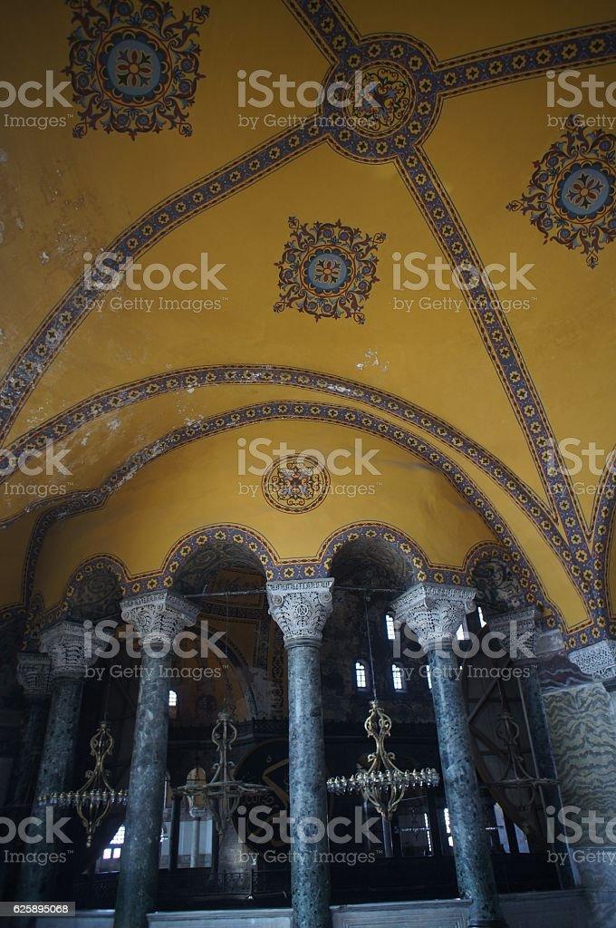 Islamic dome of Hagia Sofya stock photo