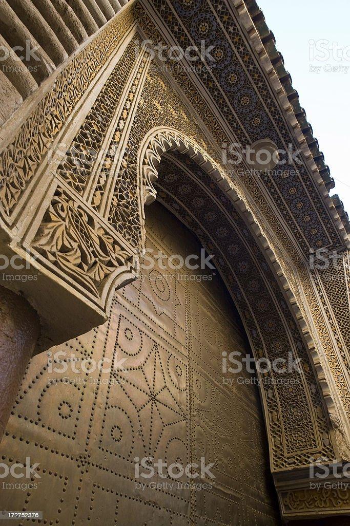 Islamic Door in Meknes royalty-free stock photo
