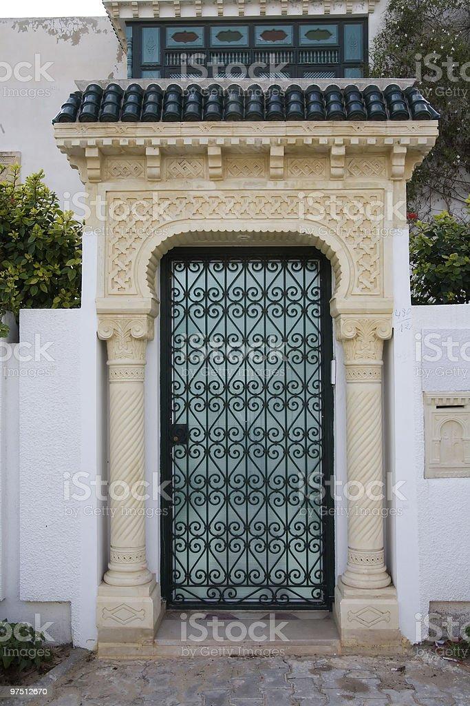Islamic door royalty-free stock photo