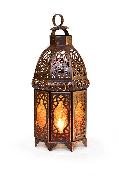 Islamic Lantern Ramadan lantern with candle light. lantern stock pictures, royalty-free photos & images