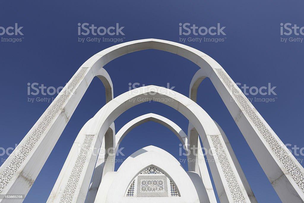 Islamic monument in Doha, Qatar royalty-free stock photo
