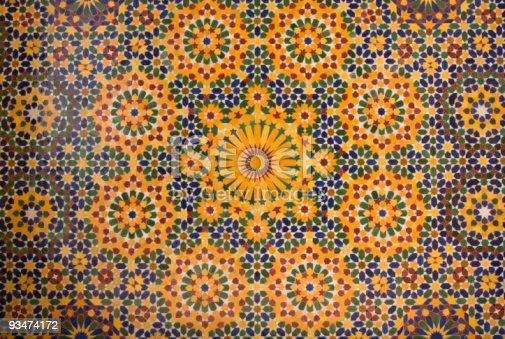 istock islamic mosaic in Morocco 93474172
