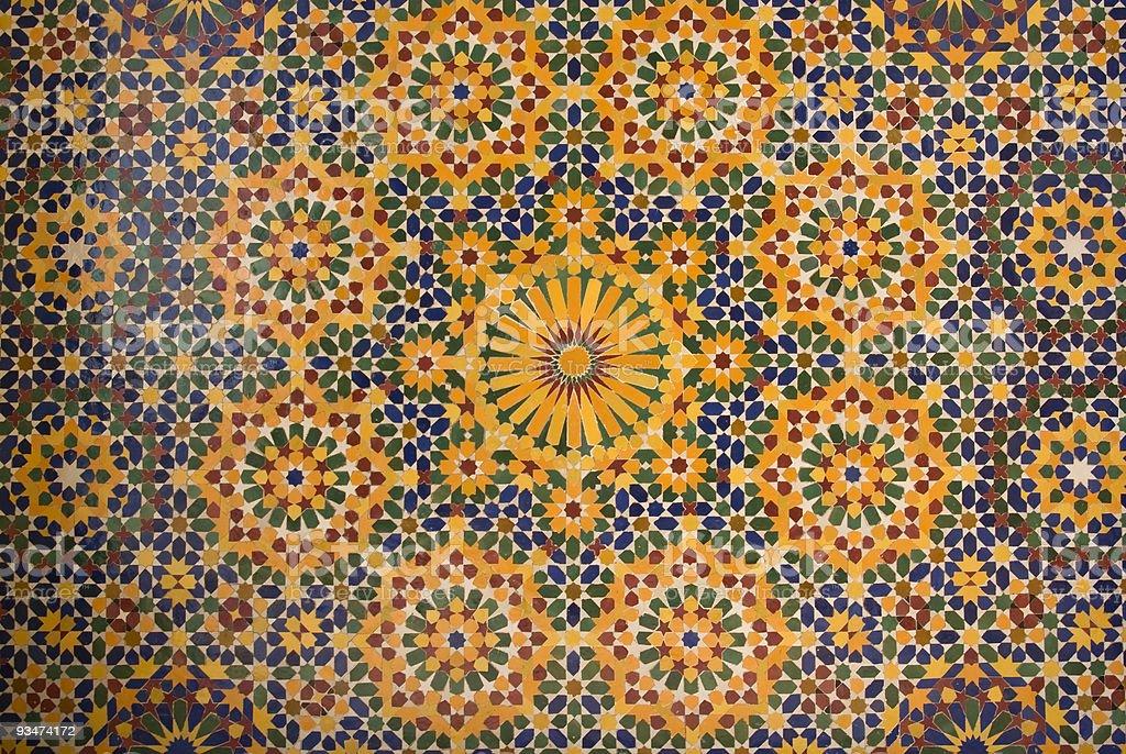 islamic mosaic in Morocco stock photo