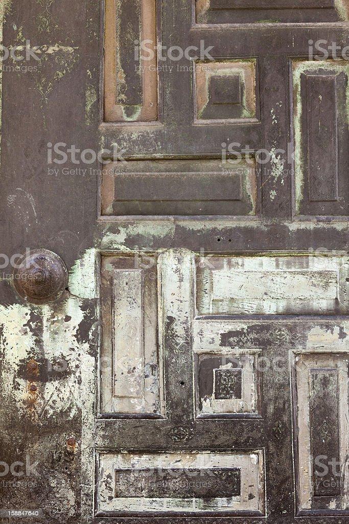Islamic Motif on Iron Door royalty-free stock photo