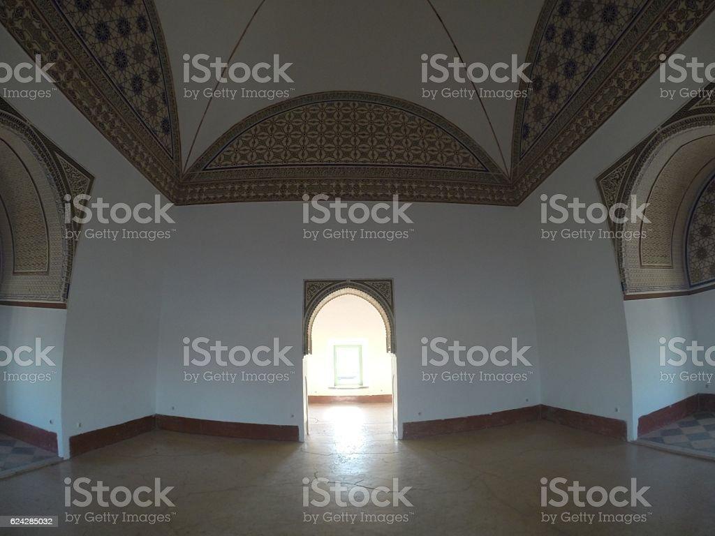 Islamic Ornament of Moroccan Door stock photo