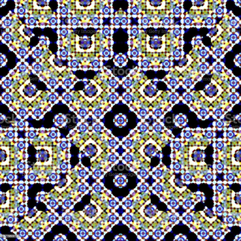 Islamic Ornate Seamless Pattern Mosaic royalty-free stock photo
