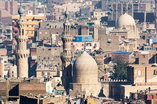 468444004 istock photo Islamic quarter of Cairo seen from the Saladin Citadel (Egypt) 468444004
