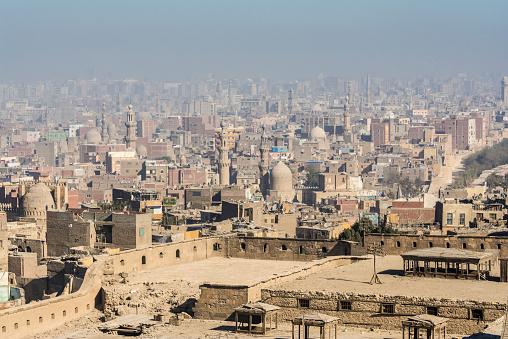468444004 istock photo Islamic quarter of Cairo seen from the Saladin Citadel (Egypt) 468453196