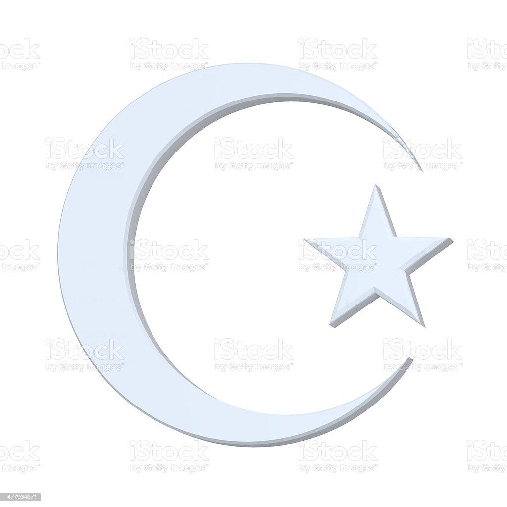 Islamic religious sign isolated on white stock photo