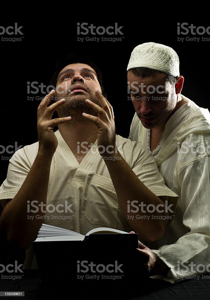 Islamic students stock photo