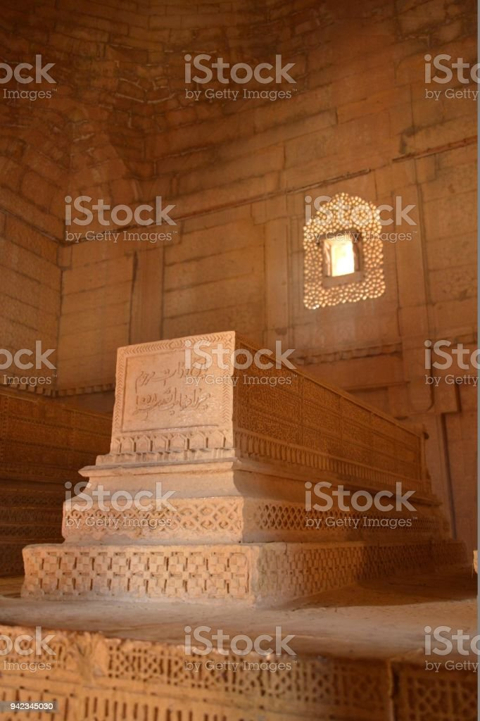 Islamic Tomb of Isa Khan Tarkhan - The First Governor of Sindh 01 stock photo
