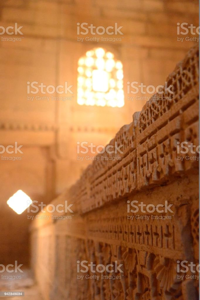 Islamic Tomb of Isa Khan Tarkhan - The First Governor of Sindh stock photo