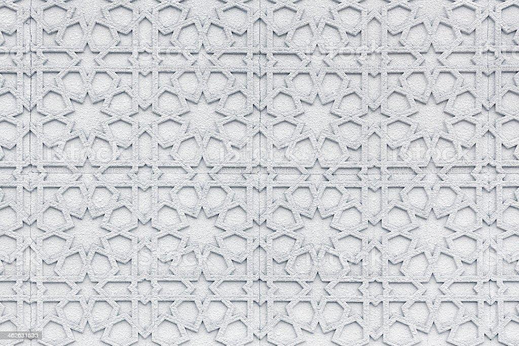 Islamic wall pattern stock photo