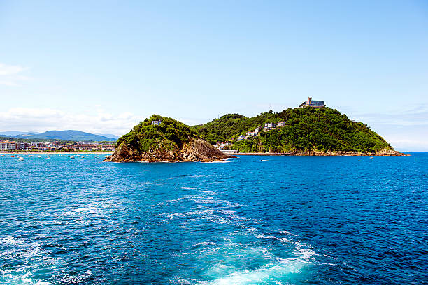 SAN SEBASTIAN, Spanien 12. Juli 2015 Insel Strand