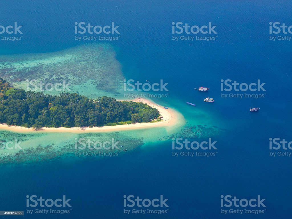 Island beach stock photo