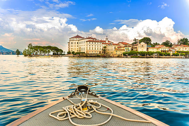 Island Bella Maggiore Lake stock photo