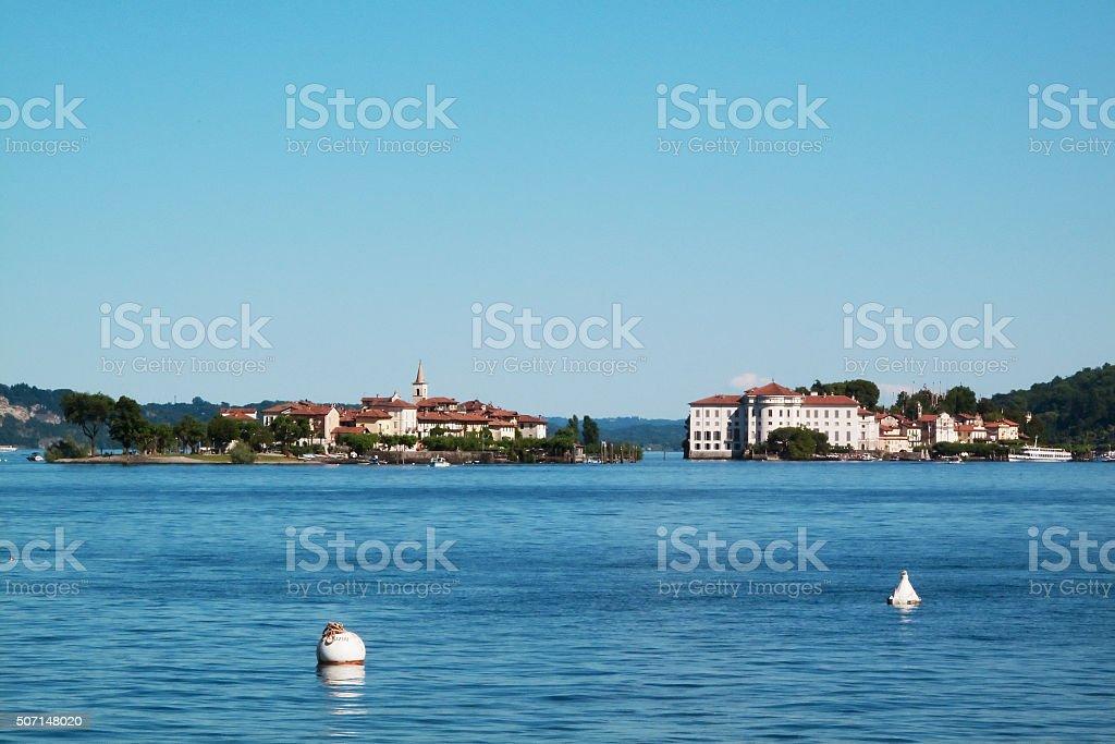 island borromeo Maggiore Lake stock photo