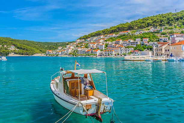 Island Brac Pucisca seascape. – Foto