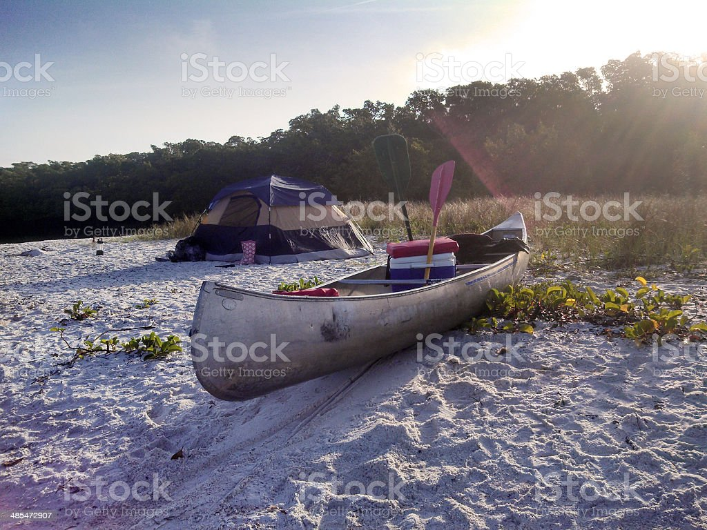 Island Campsite in the Everglades National Park stock photo