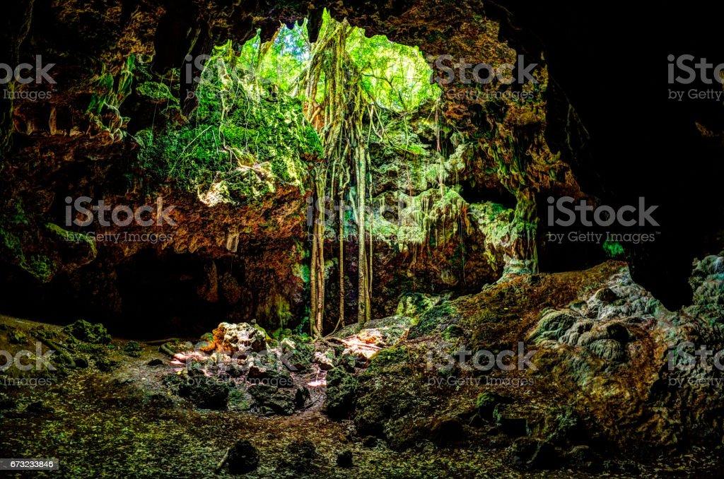 Island Cave - Isle of Pines, New Caledonia stock photo