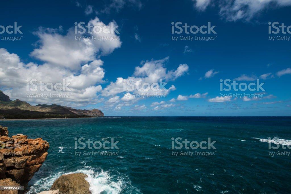 island cliffs ocean view stock photo