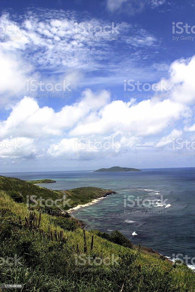 Island coast stock photo