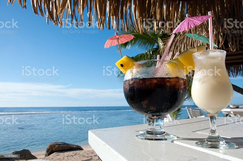 Island Cocktails stock photo