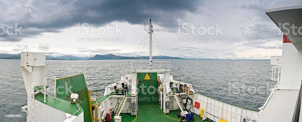 Island ferry ocean panorama royalty-free stock photo