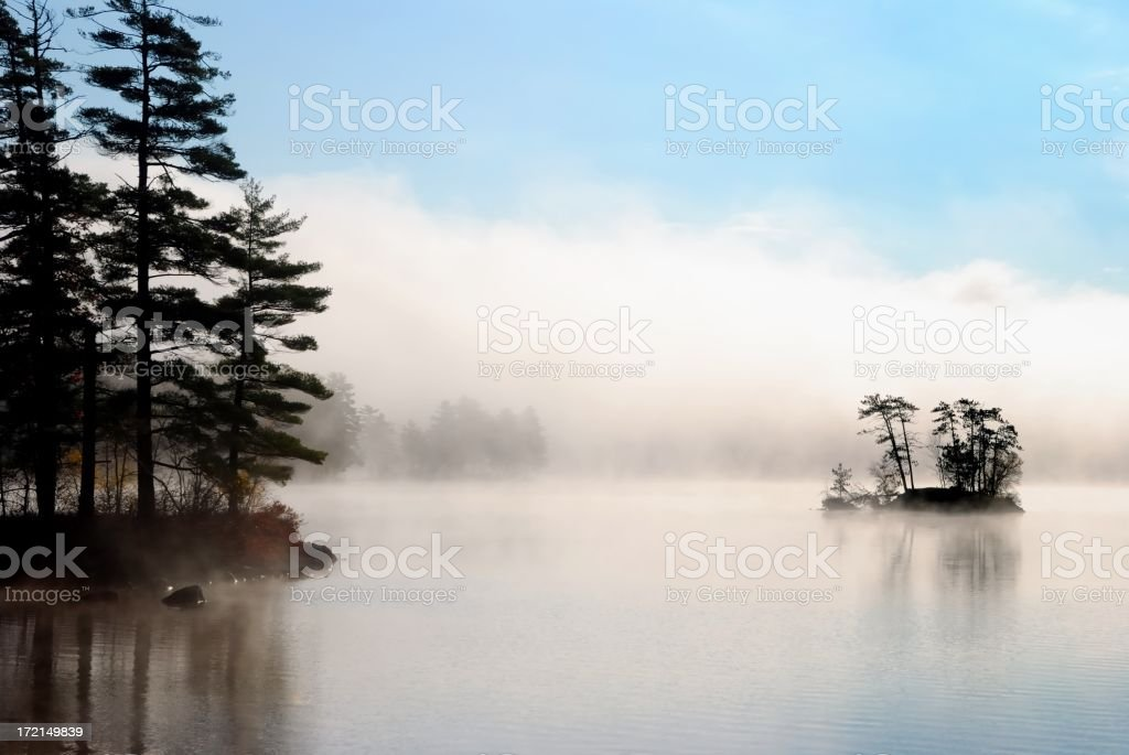 island fog royalty-free stock photo