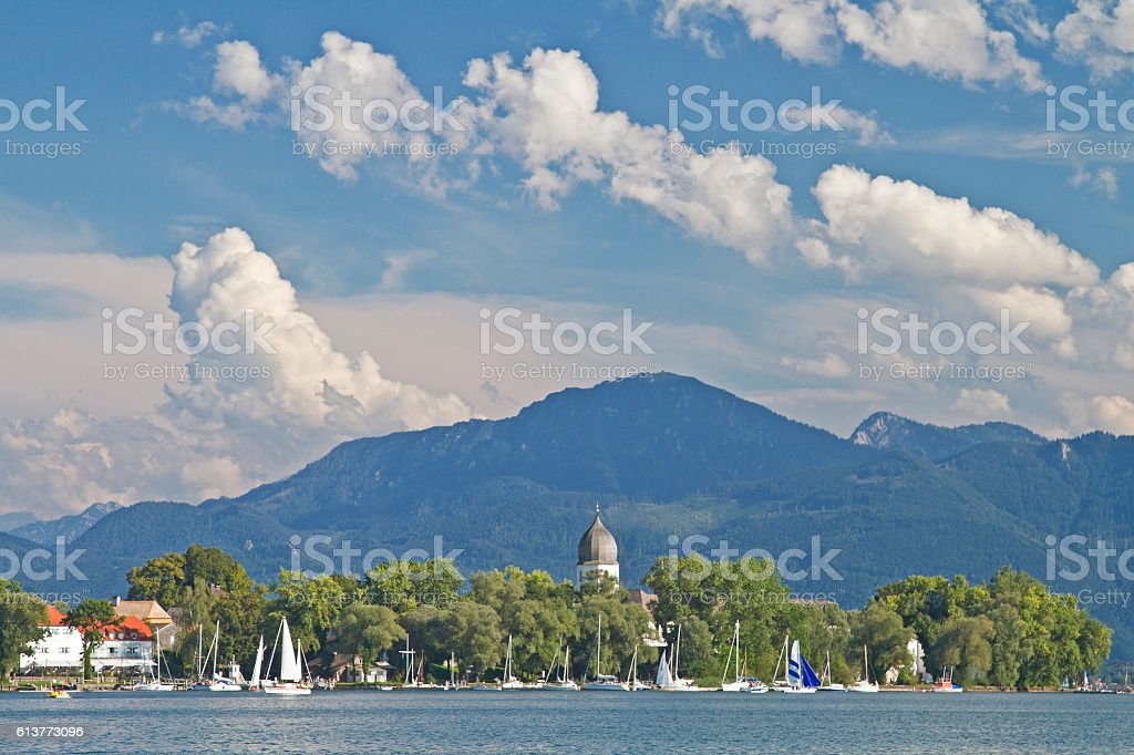 Island  Frauenchiemsee in Upper Bavaria stock photo