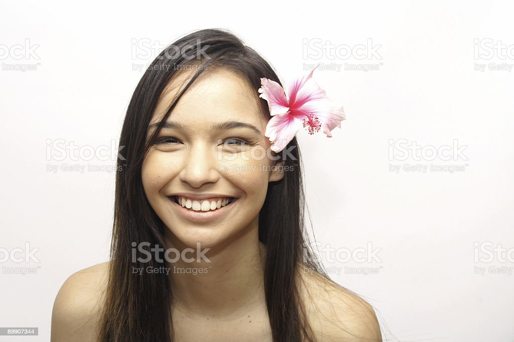 island girl with flower royalty-free stock photo
