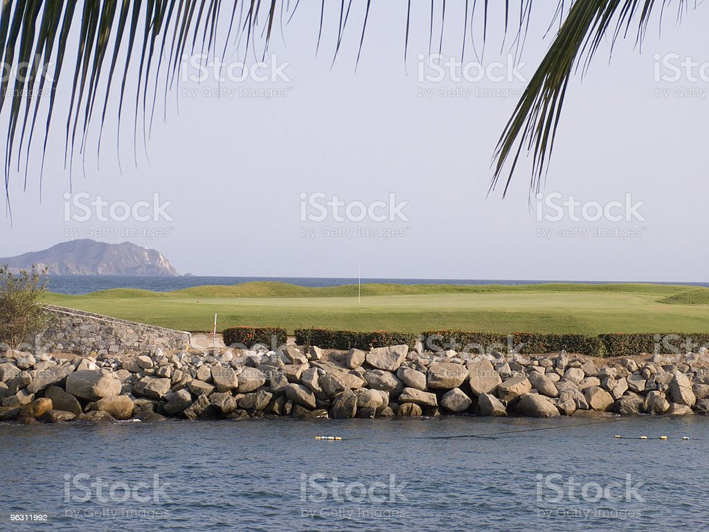 Island Green 18th royalty-free stock photo