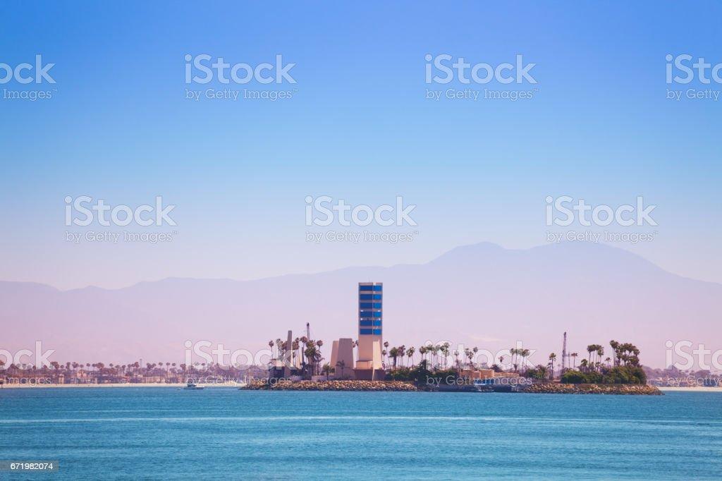 Island Grissom off the coast of Long Beach, USA stock photo